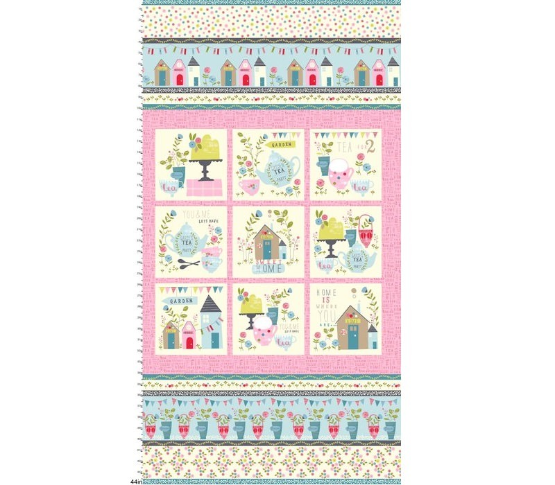 Garden Party Quilt Panel New Forest Fabrics