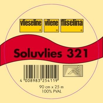 Vilene 321 Solufleece  Cold Water Dissovable Embroidery Stabiliser 1 Metre