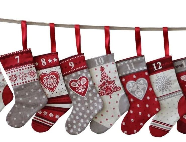 How to make your own Christmas Stocking bunting - New Forest Fabrics