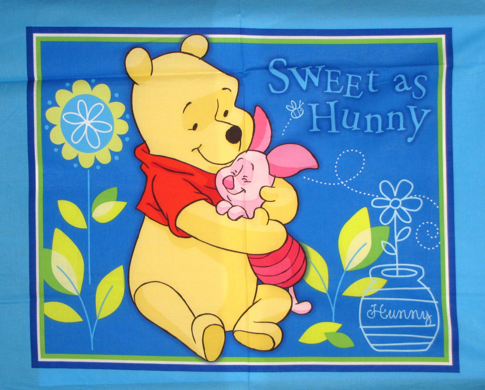 Winnie The Pooh And Friends Sweet As Honey Quilt Panel
