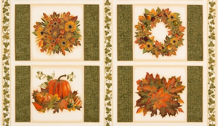 Shades Of Autumn Project Panel New Forest Fabrics
