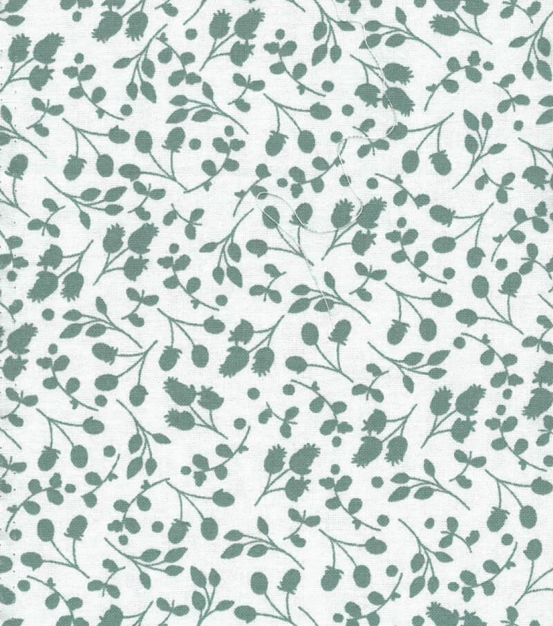 Floral Print Green On Mint New Forest Fabrics