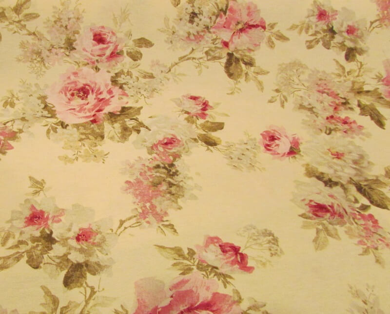 English Rose On Cream New Forest Fabrics