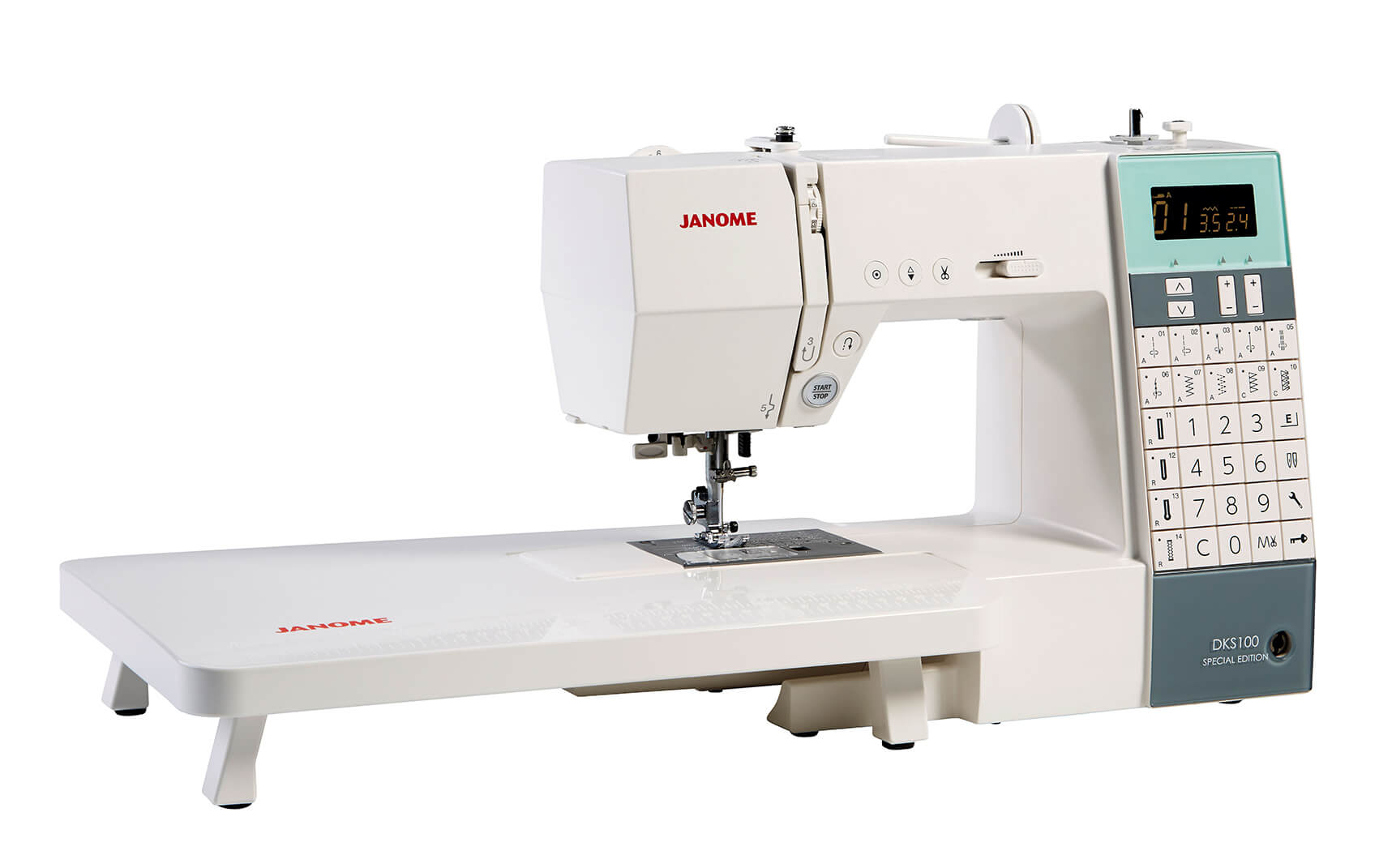 janome dks100 special edition sewing machine new forest fabrics. Black Bedroom Furniture Sets. Home Design Ideas