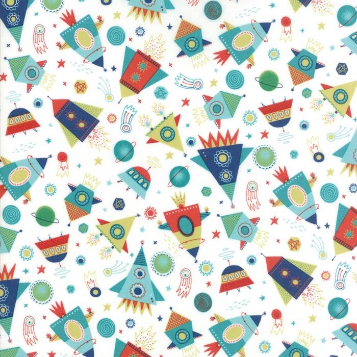 Stellar baby by moda fabrics blast off in cloud new for Baby fabric uk
