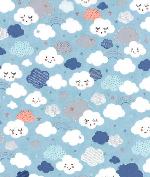 Stellar baby by moda fabrics cutie clouds in sky new for Baby fabric uk