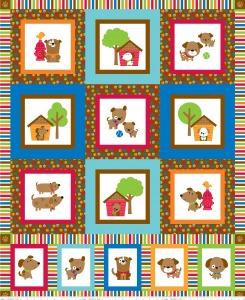 Puppy LoveQuilt Panel - 6936