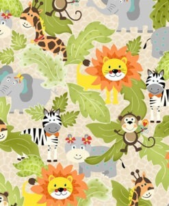 Bungle Jungle - Dana Brooks for Henry Glass Fabrics