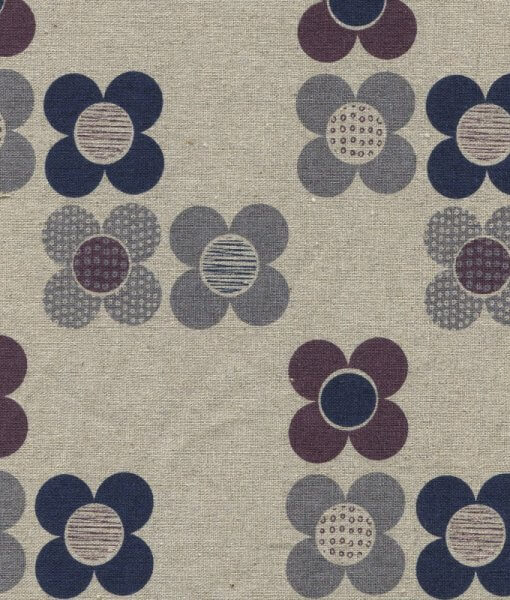 Chalk Hill Flowers Cotton Linen CL1355