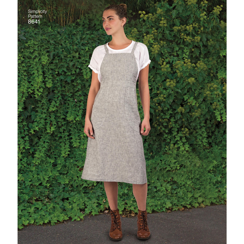43d2022972e4 Pattern 8641 Womens Jumper Dress - New Forest Fabrics