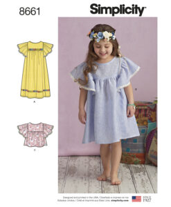 Pattern 8661 Childs Dresses or Top