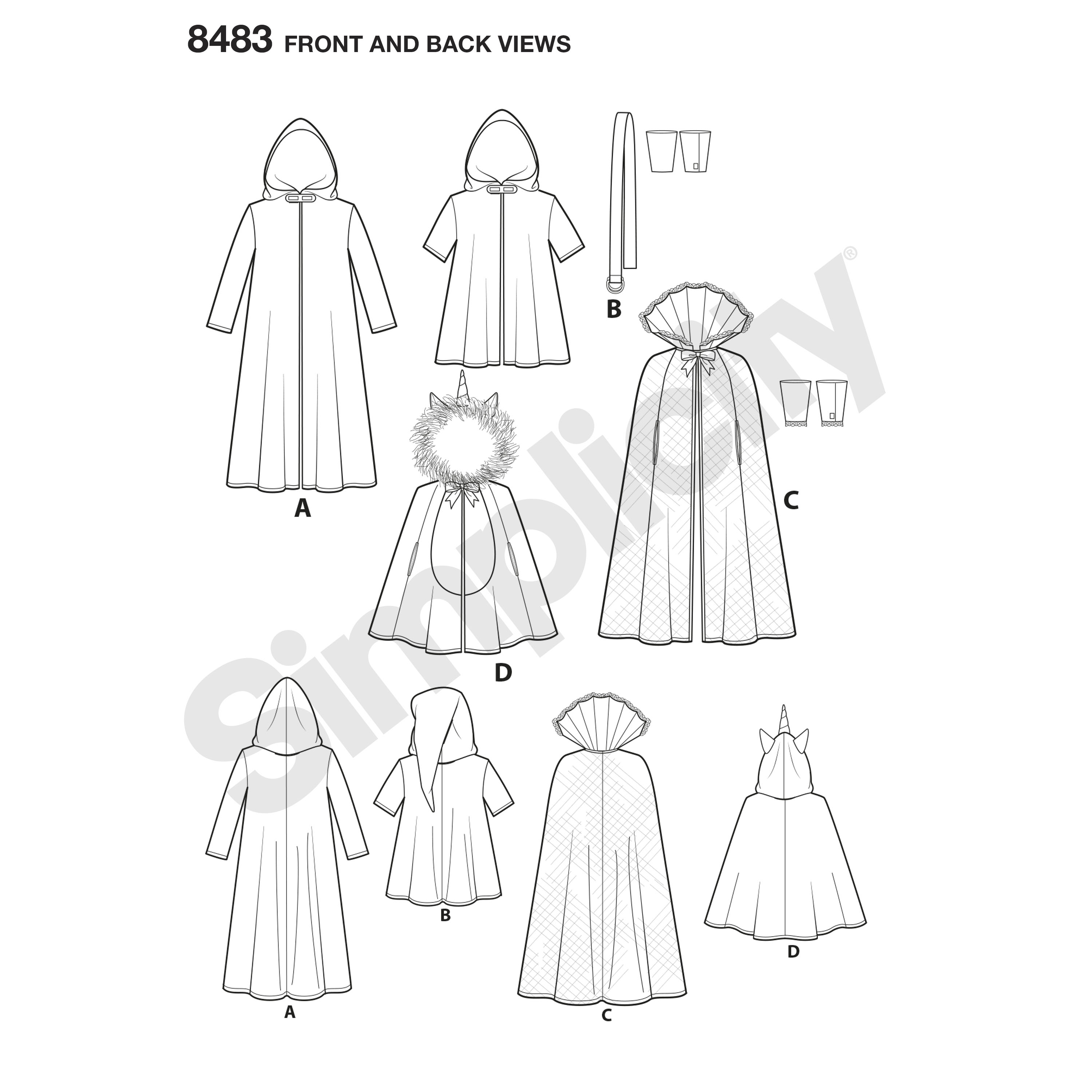Pattern 8483 Childs Cape Costumes - New Forest Fabrics