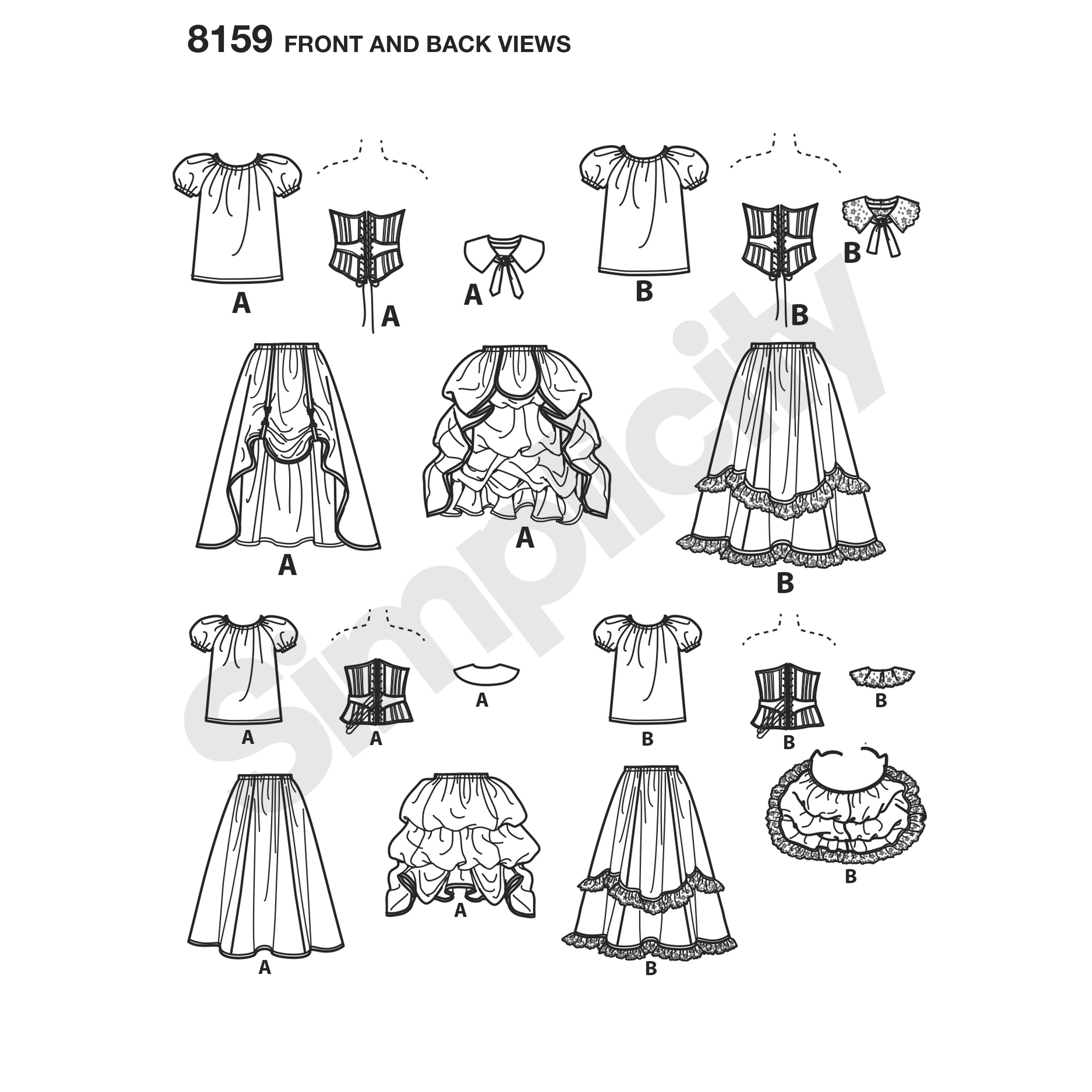 Simplicity Pattern 8159 Women\'s Cosplay Costumes with Corsets - New ...