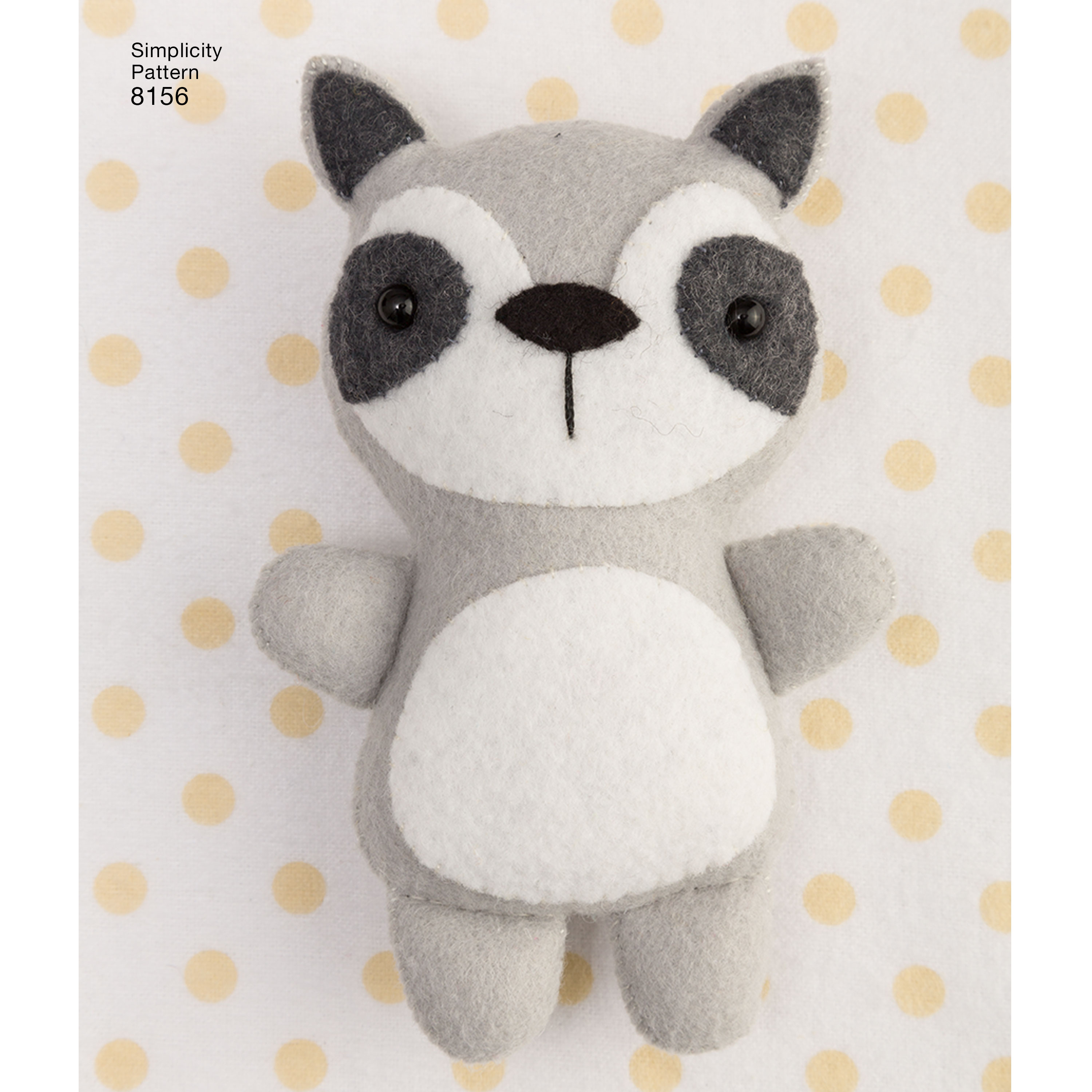 Simplicity Pattern 8156 Stuffed Animals with Pillow House and Toys ...