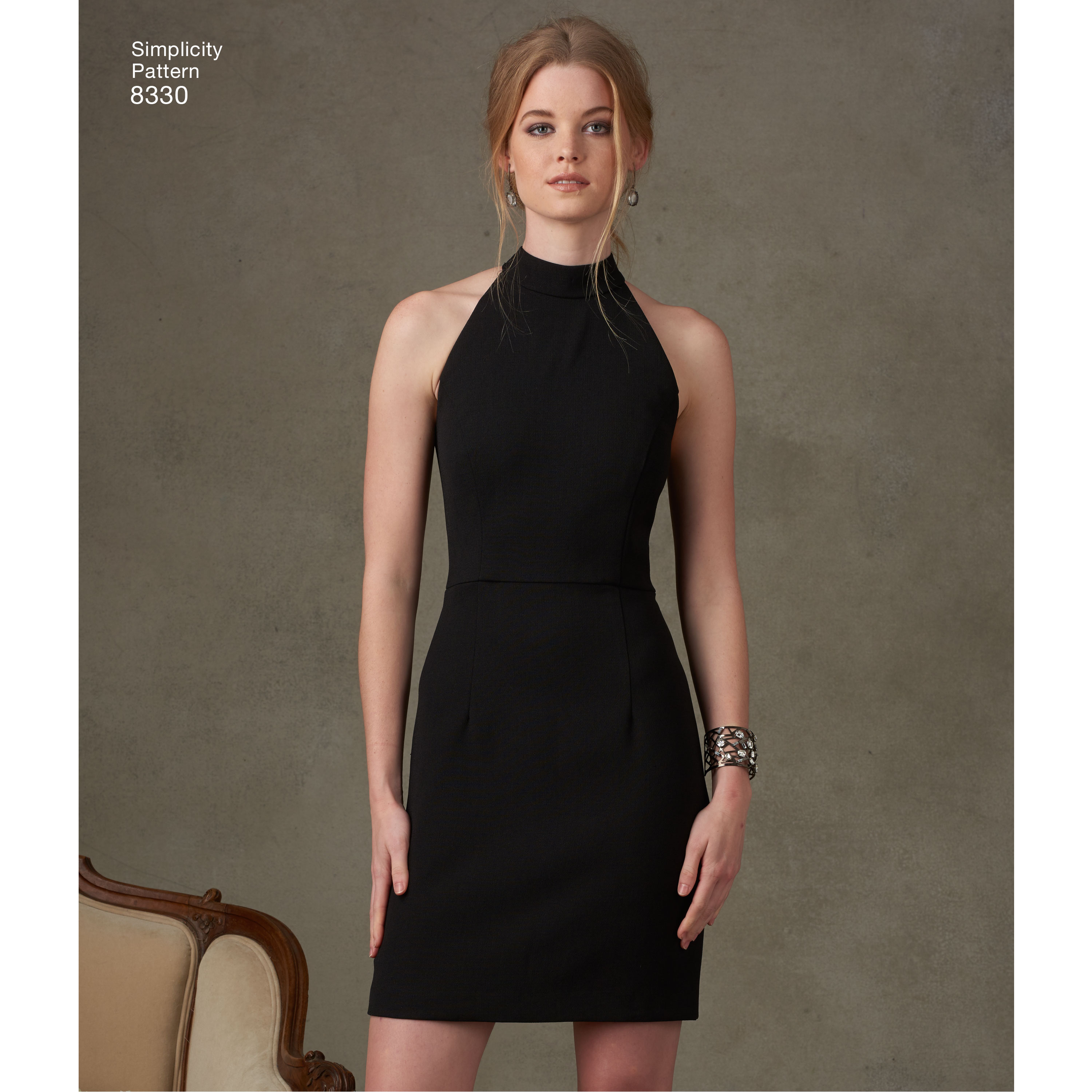 Simplicity Pattern 8330 Womens Dress With Skirt And Back Variations