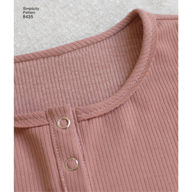 Pattern 8435 Womens Knit Bodysuit - New Forest Fabrics 28722cdab