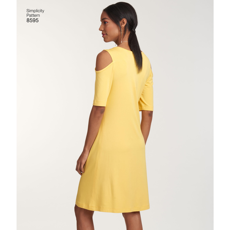 Pattern 8595 Womens Knit Dresses New Forest Fabrics