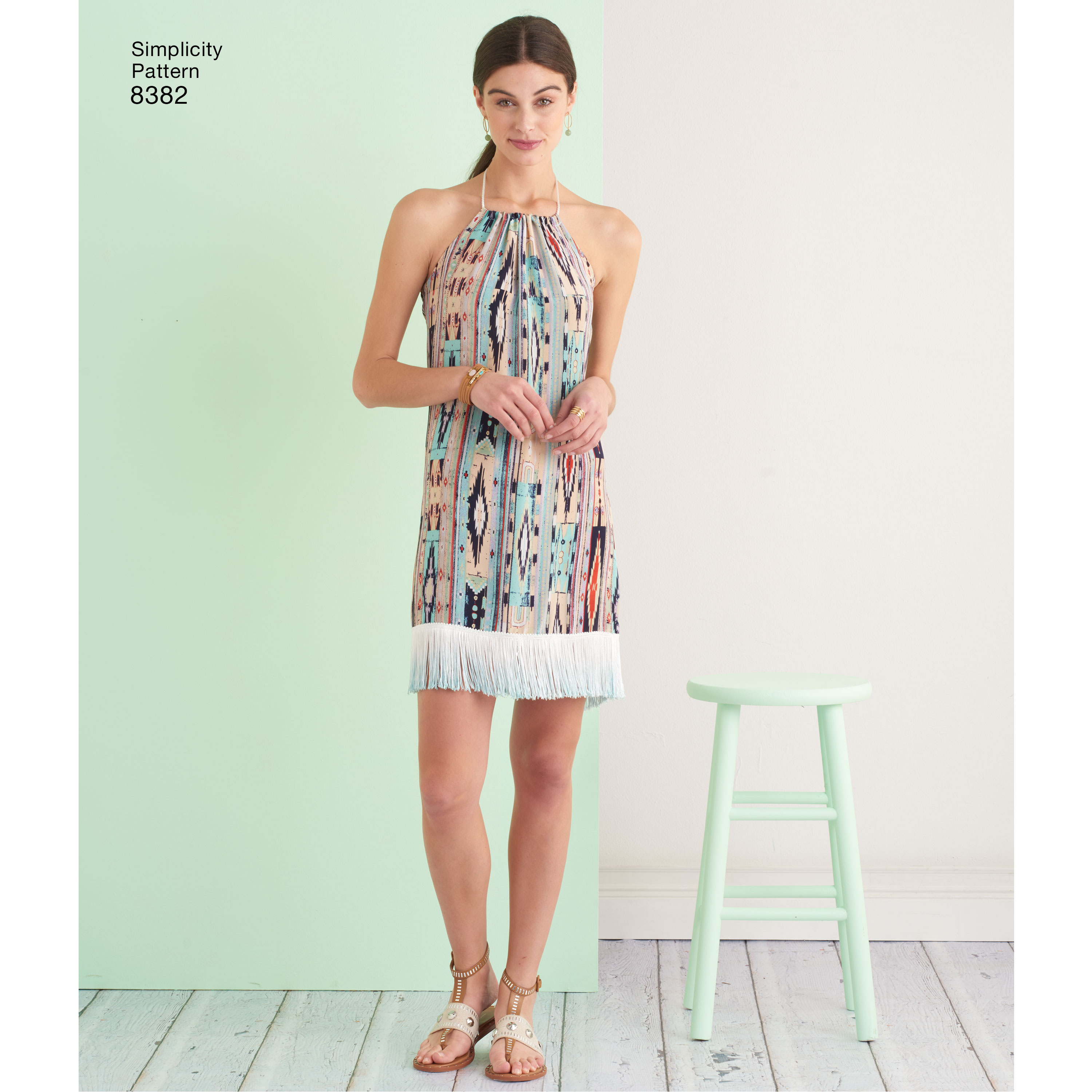 Simplicity Pattern 8382 Womens Halter Dress in Two Lengths - New ...