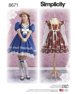 Pattern 8671 Women?s Lolita Costume Dresses