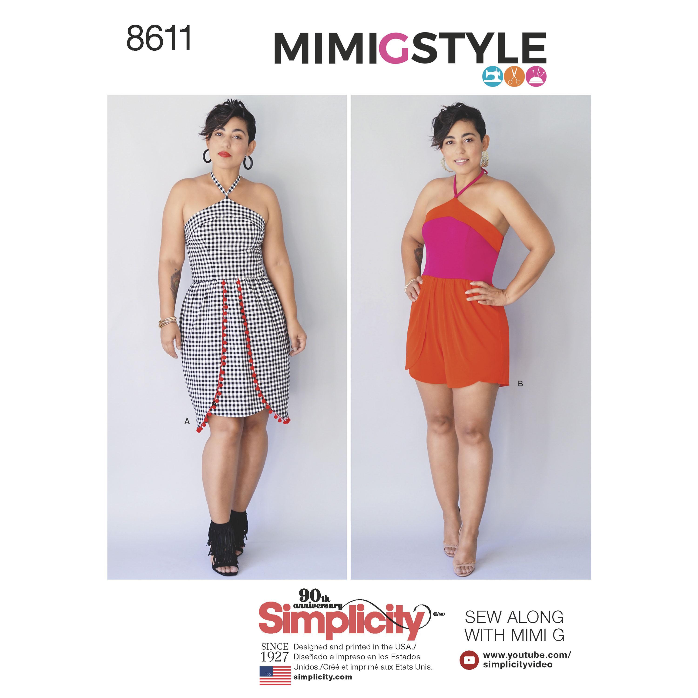 Pattern 8611 Women?s / Petite Women?s Dress and Romper by Mimi G
