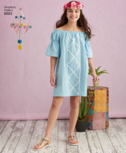 Pattern 8663 Childs and Girls Dress