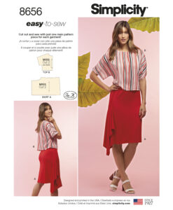 Pattern 8656 Women?s Knit Skirt and Top