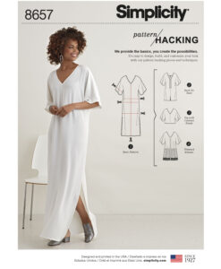 Pattern 8657 Women?s Caftan with Options for Design Hacking