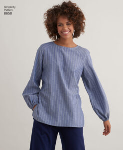 Pattern 8658 Women?s Top with Options for Design Hacking