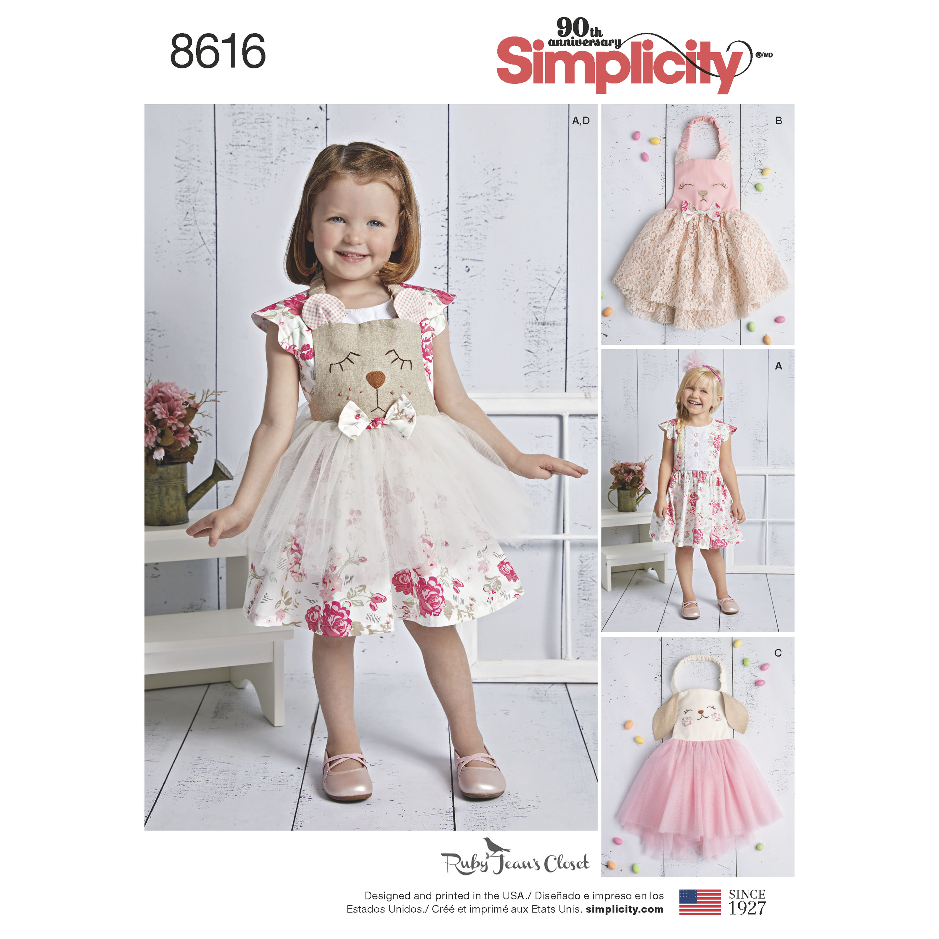 Pattern 8616 Toddlers Dress and Apron Tutu - New Forest Fabrics