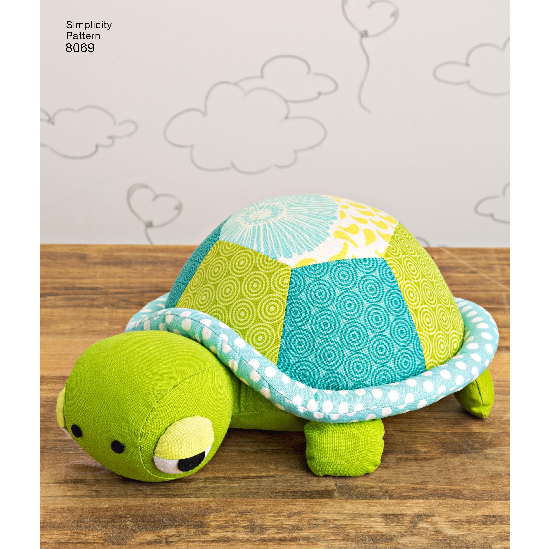 Stuffed Penguins Turtle And Elephant New Forest Fabrics