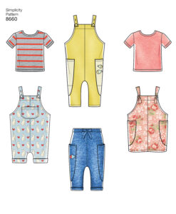 Pattern 8660 Toddlers Knit Top, Trousers, Jumper and Overalls