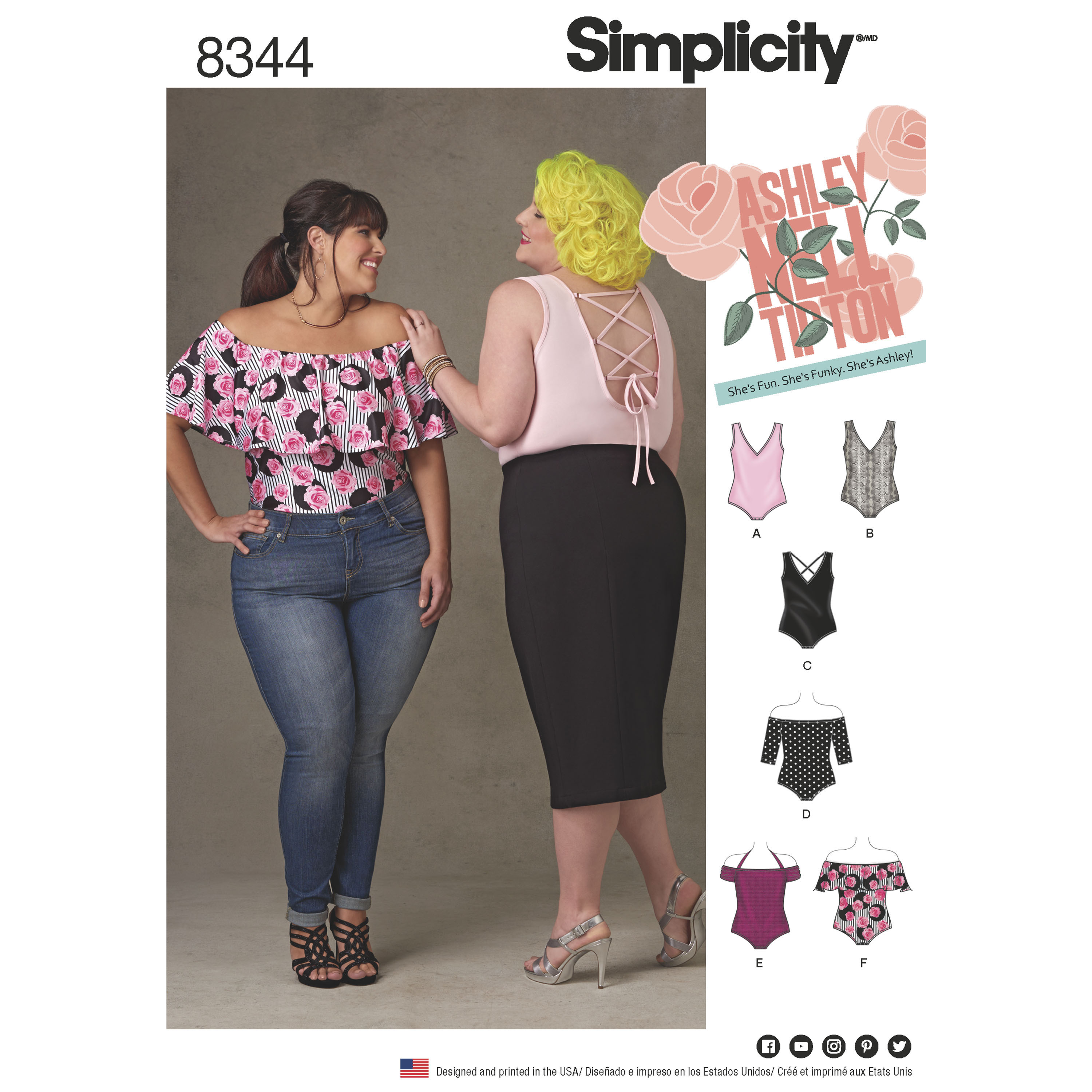 Simplicity Pattern 8344 Plus Size Knit Bodysuits by Ashley Nell Tipton 9dad5f1ba