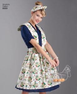 Pattern 8669 Women?s Vintage Aprons