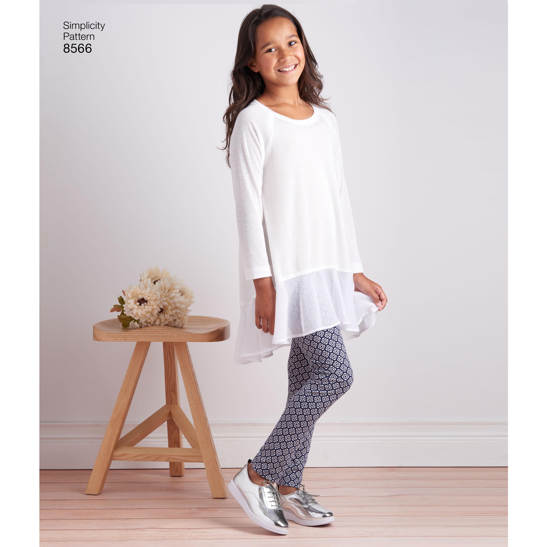 0060cb13172 Simplicity Pattern 8566 Childs & Girls Tunics & Leggings - New ...